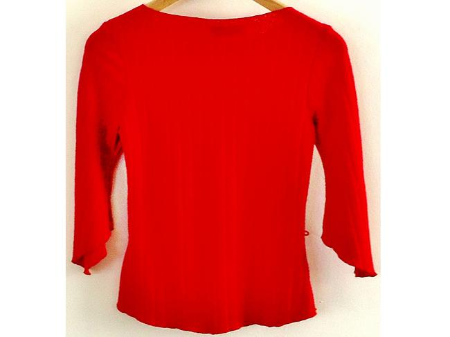 OBEY Stretchy Flared Sleeves Top red Image 3