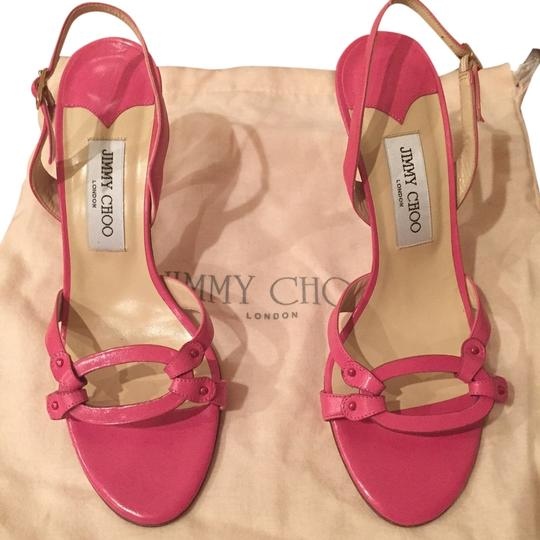 Jimmy Choo Leather PINK Sandals