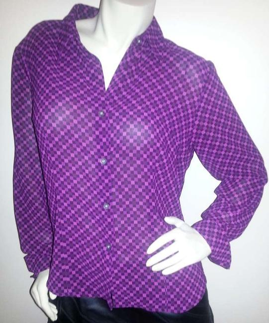 Preload https://item2.tradesy.com/images/new-york-and-company-purple-pink-black-squares-sheer-lavender-button-down-top-size-12-l-369386-0-0.jpg?width=400&height=650