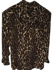 Guess Button Down Shirt Leopard