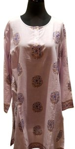 Graham Kandiah Graham Kandiah Printed Plum Medallion Cotton Dress/Cover Up