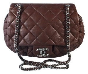 Chanel 2010 2011 Crossbody Brown Messenger Bag