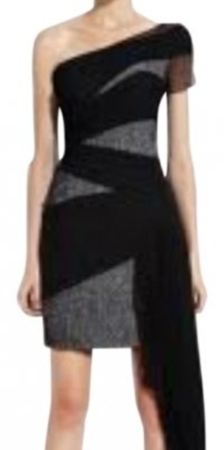 Preload https://item3.tradesy.com/images/bcbgmaxazria-black-and-gray-limited-edition-runway-high-low-formal-dress-size-8-m-36942-0-0.jpg?width=400&height=650