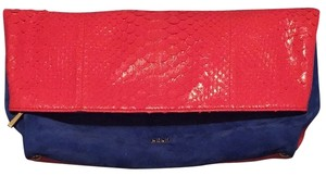 Emilio Pucci Royal Blue and Hot Pink Clutch