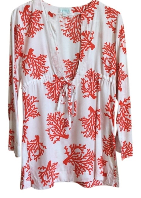Item - Coral/White Tunic Size 2 (XS)