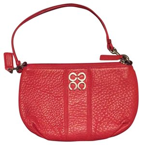 Coach Wristlet in Coral Red