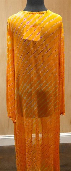 Graham Kandiah Graham Kandiah Quintana Sunset V-Neck Tie Swim Cover Up