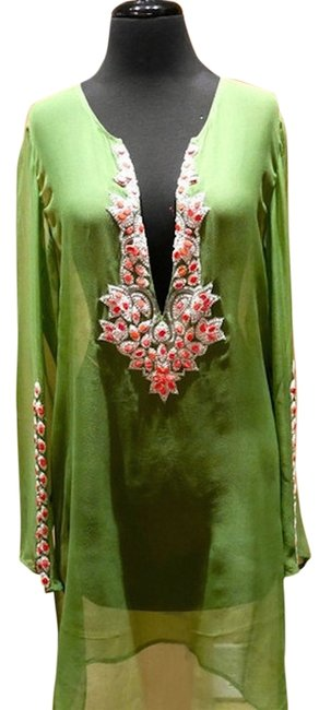 Preload https://item2.tradesy.com/images/greencoral-caftan-in-lime-with-beading-cover-upsarong-size-10-m-3694681-0-0.jpg?width=400&height=650