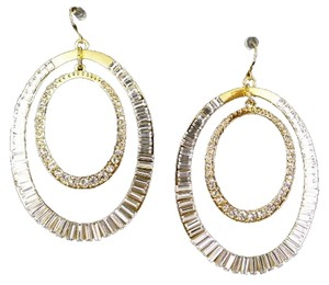 C C SKYE CC Skye Crystal Double Hoop Earrings