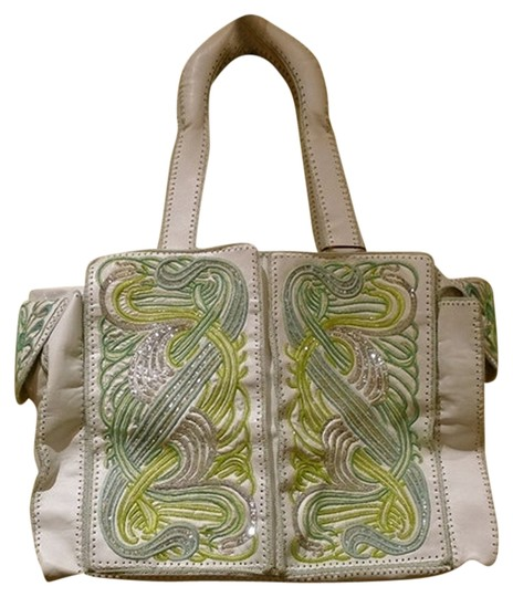 Preload https://item2.tradesy.com/images/buba-maze-embroidered-bagtote-whitegreensilver-leather-diaper-bag-3695056-0-0.jpg?width=440&height=440