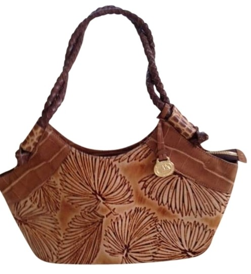 Preload https://item2.tradesy.com/images/brahmin-unique-tan-and-brown-leaf-pattern-leather-hobo-bag-369561-0-0.jpg?width=440&height=440