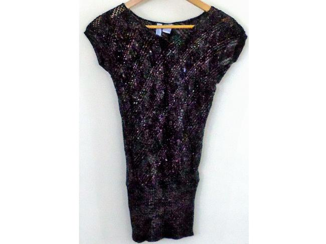 Other Stretchy Sparkle Top black-silver Image 1