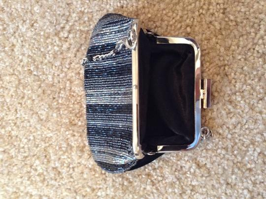 Liz Claiborne Beaded Going Out Purse Wristlet in Black and silver