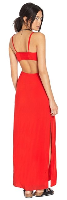 red Maxi Dress by Forever 21 Maxi Cut Out Side Cutout Sexy