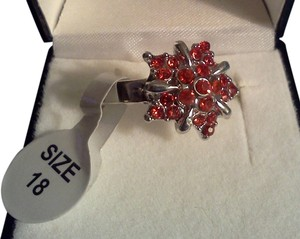 Other Silver plated party ring, you choose red garnet or cubic/ clear stones