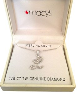 Macy's Sterling Silver and Genuine Diamond