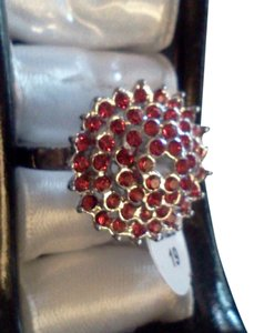 Preload https://item3.tradesy.com/images/silver-red-plated-party-with-cluster-of-stones-ring-3696727-0-0.jpg?width=440&height=440