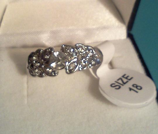 Other Silver plated party ring with inlayed stones