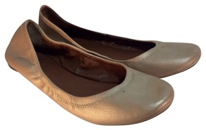 Lucky Brand Leather Comfort Vacation Travel Tan Flats