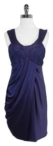 BCBGMAXAZRIA Deep Purple Draped Dress
