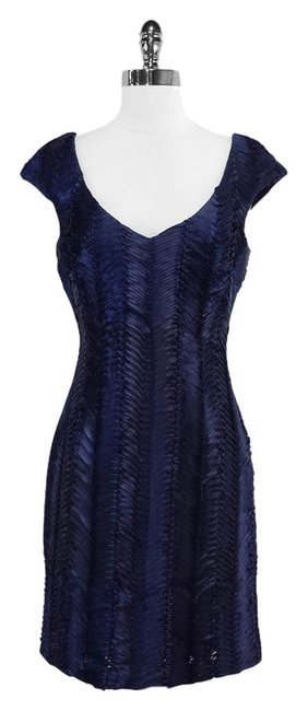 Preload https://item3.tradesy.com/images/badgley-mischka-navy-textured-cap-sleeve-mini-short-casual-dress-size-6-s-3697492-0-0.jpg?width=400&height=650