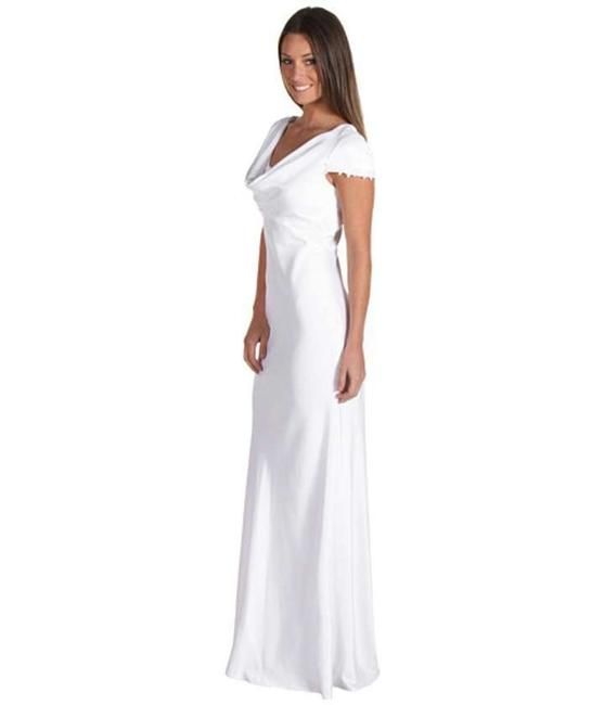 Item - White Polyester Casual Wedding Dress Size 10 (M)