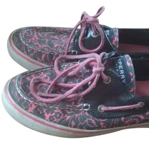 Sperry Black and Pink Flats