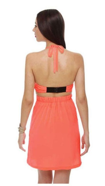 BB Dakota short dress Neon Orange on Tradesy