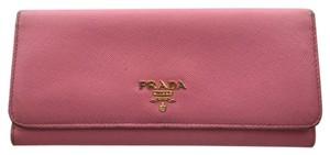 Prada Prada Bubble Gum Pink Continental Wallet