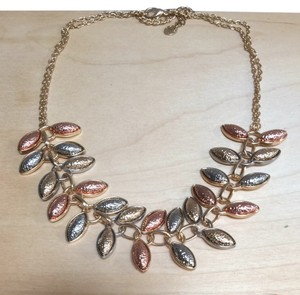 Other Tri-color Laurel Wreath Statement Necklace