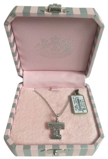 "Juicy Couture Juicy Couture Silver ""T"" Initial Necklace"