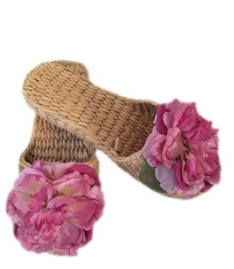 Spa Beach Slippers Tan/fuchsia Mules