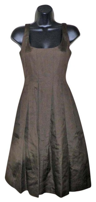 Item - Brown Ruffled Tank Mid-length Short Casual Dress Size 4 (S)