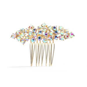 Mariell Crystal Clusters Gold Best Selling Ab Or Prom Comb 4191hc-g- Tiara
