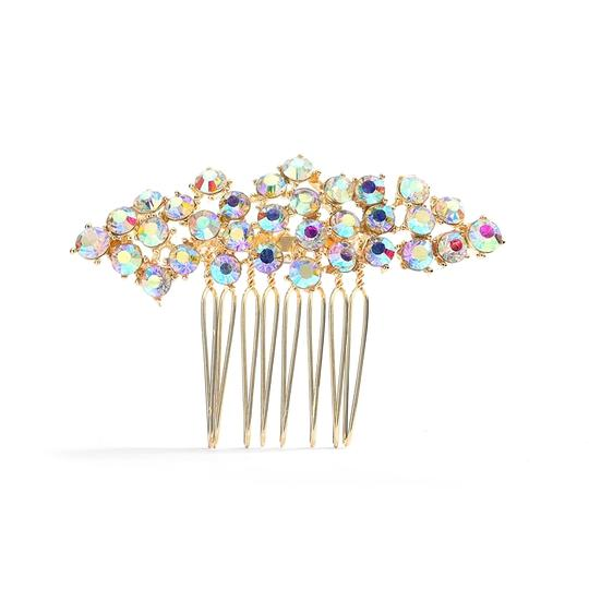 Mariell Crystal Clusters Gold Best Selling Ab Prom Comb 4191hc-g- Tiara