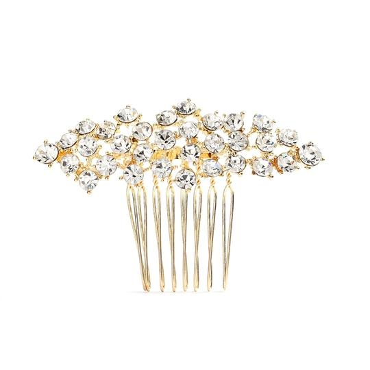 Mariell Gold Best Selling Crystal Clusters Or Prom Comb 4191hc-g-cr Tiara