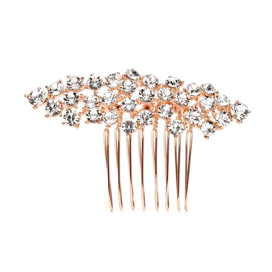 Mariell Best Selling Crystal Clusters Rose Gold Wedding Or Prom Comb 4191hc-rg-cr