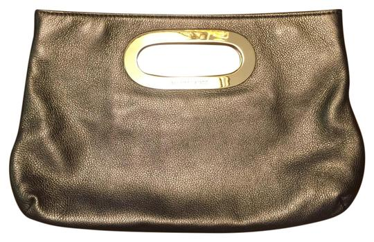 Michael Kors Hardware Handbag Evening Gold Clutch