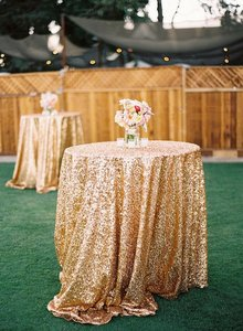 Gold Sequin Tablecloth