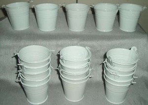 Mini Buckets For Wedding Favors