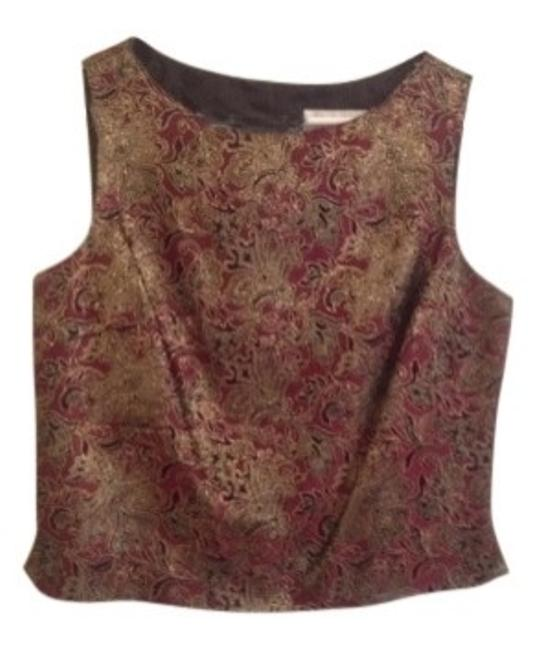 Preload https://img-static.tradesy.com/item/36993/jr-nites-burgundy-and-gold-sleeveless-metallic-print-with-back-hidden-zip-night-out-top-size-12-l-0-0-650-650.jpg