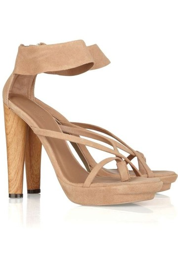 BCBGMAXAZRIA Suede Neutral Tan Sandals