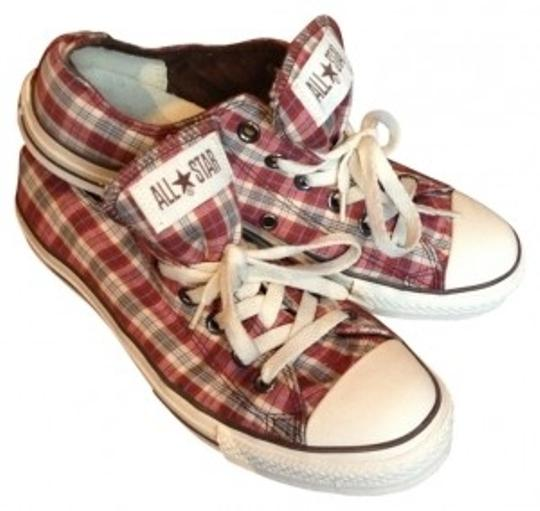 Converse Red/Brown/Blue Plaid Athletic