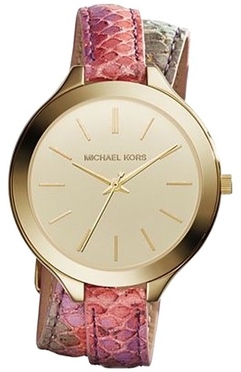 Preload https://img-static.tradesy.com/item/3699829/michael-kors-slim-runway-multicolor-painted-python-double-wrap-strap-mk2390-watch-0-0-540-540.jpg