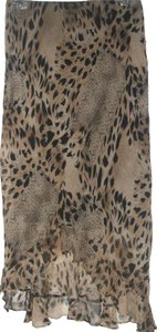 New York & Company Maxi Skirt Leopard Pattern