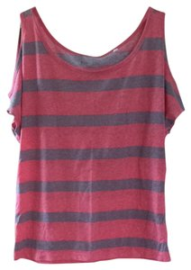 Lilu Top Pink & Taupe Stripes