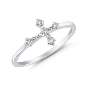 Apples of Gold Women's Diamond Cross Ring