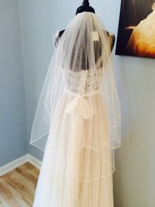Two Layer Veil With Pearls
