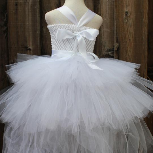Custom Made Triple Layered White Flower Girl Dress - Infant - 10 Years