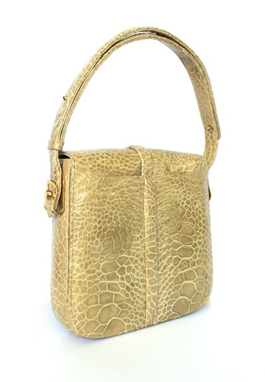 Other Taupe Alligtor Deco Shoulder Bag